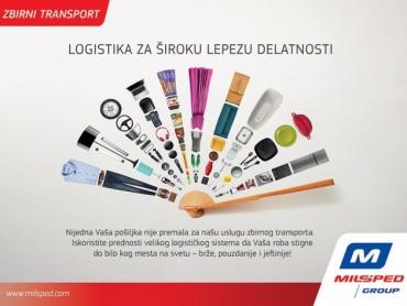 Zbirni transport - Logistika za široku lepezu delatnosti