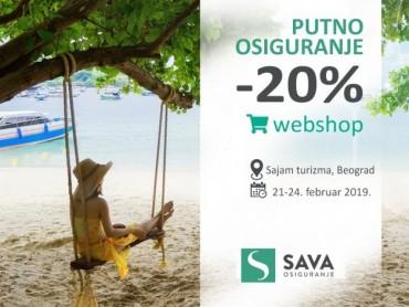 20% popusta na Putno osiguranje, povodom Sajma turizma