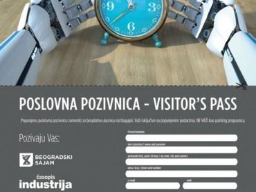 Časopis Industrija vam poklanja ulaznicu za beogradski Sajam tehnike