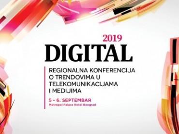 Regionalna konferencija o trendovima u telekomunikacijama i medijima – Digital 2019 šesti put u Beogradu