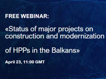 """Pridružite se besplatnom seminaru """"Status izgradnje i modernizacije velikih hidroenergetskih projekata na Balkanu"""""""