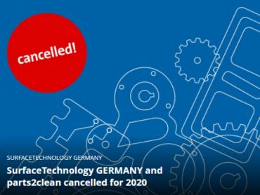Odlučeno je: Sajmovi SurfaceTechnology i parts2clean neće se održati ove godine