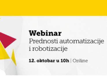Webinar - Prednosti automatizacije i robotizacije