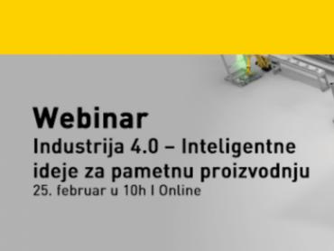 Webinar - Industrija 4.0  Inteligentne ideje za pametnu proizvodnju